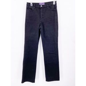 Not Your Daughters Jeans Black Straight Leg Black